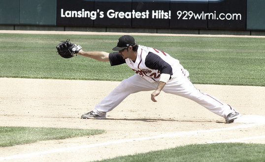 After a successful 2012 season with the Lansing Lugnuts, K.C. Hobson joined the Canberra Cavalry during the off-season. (photo credit: Whitecap Wendy)