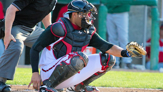 Santiago Nessy - catcher for the Lansing Lugnuts. (MiLB.com)