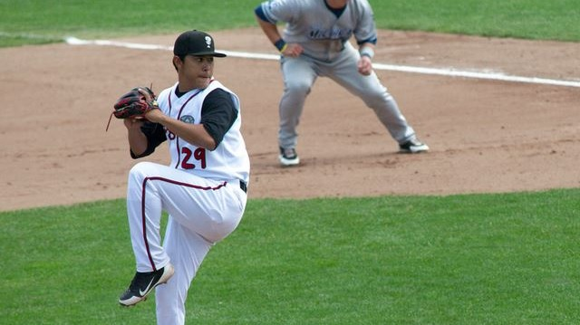 Right-hander Javier Avendano was the Lugnuts' ace in 2013. (Joel Dinda)