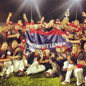 2013 Vancouver Canadians Northwest League champions (chasedejong34/Instagram)