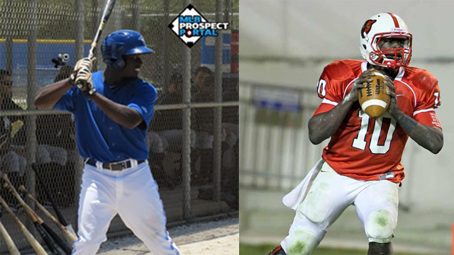 Anthony Alford plays both baseball for the Blue Jays and football for the Ole Miss Rebels.