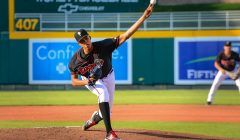 Angel Perdomo Intimidating Pitcher with a Bright Future