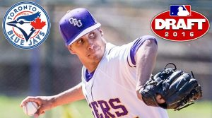 Connor Eller was selected by the Blue Jays in the 22nd round of the 2016 MLB draft. (www.OBUTigers.com)