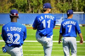 John La Prise has developed well at second base this season in Lansing. (Toronto Observer)