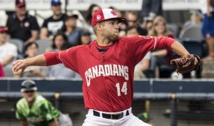 T.J. Zeuch rising quickly through the Blue Jays system. (John Lott)