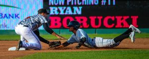 Ryan Metzler performs well at three infield positions. (Kyle Castle)