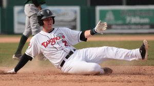 Christian Williams is focused on becoming a well-rounded first baseman. (Tyler Marcotte)
